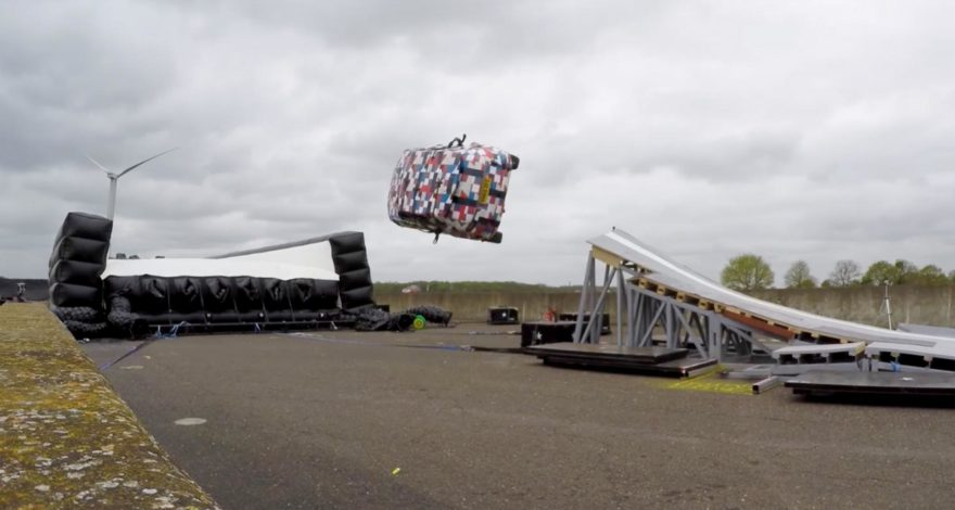 World Record: Jaguar's mad E'Pace barrel roll using VBOX 3i and Vehico steering robot