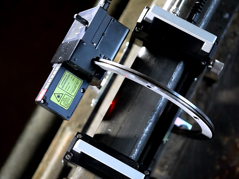Riftek's Rail Profile Measurement Gauge measuring the cross-section of your railhead acting face